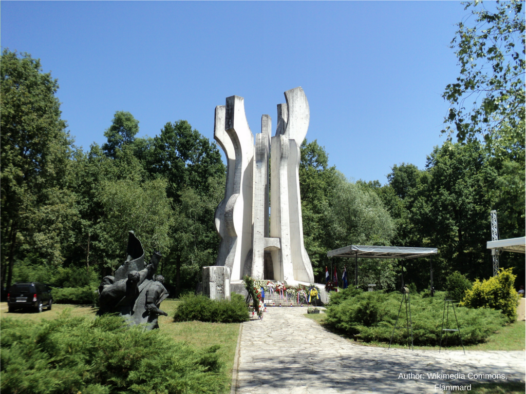 Monument in Brezovica forest in Croatia (Former Yugoslavia) where first liberation squad was formed in World War II in occupied Europe.
