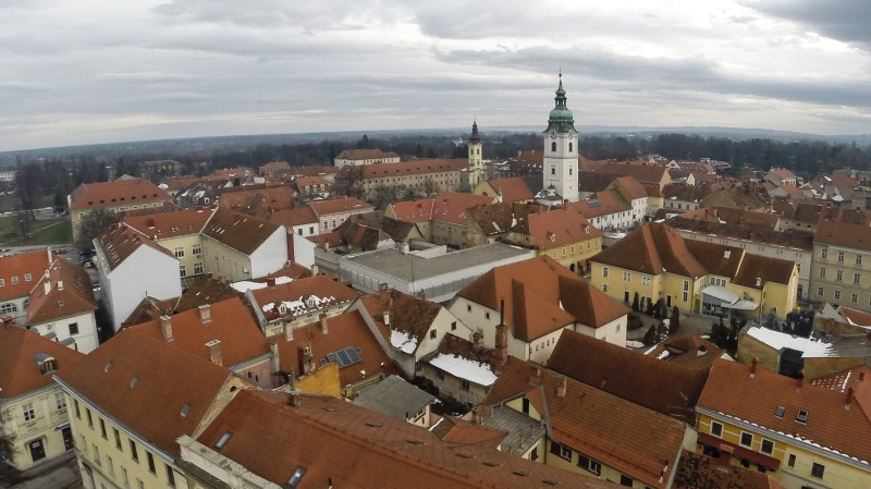 Panorama of old part of Karlovac, Croatia.