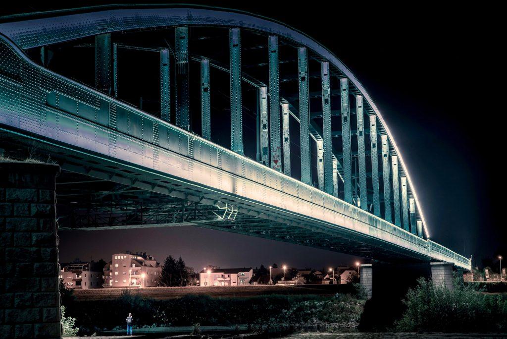 croatia, travel, discover, tourism, bridge, hendrix, zagreb, river, sava, railway