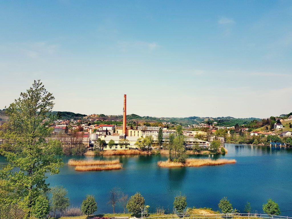 Cotton factory Duga Resa on river Mrežnica
