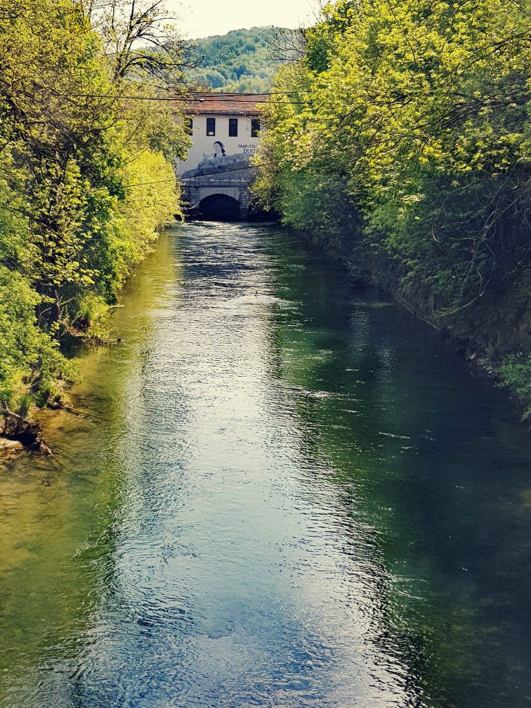 River Mrežnica exiting Cotton factory