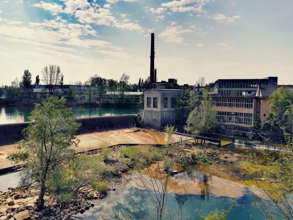 Dam of Cotton factory Duga Resa on river Mrežnica