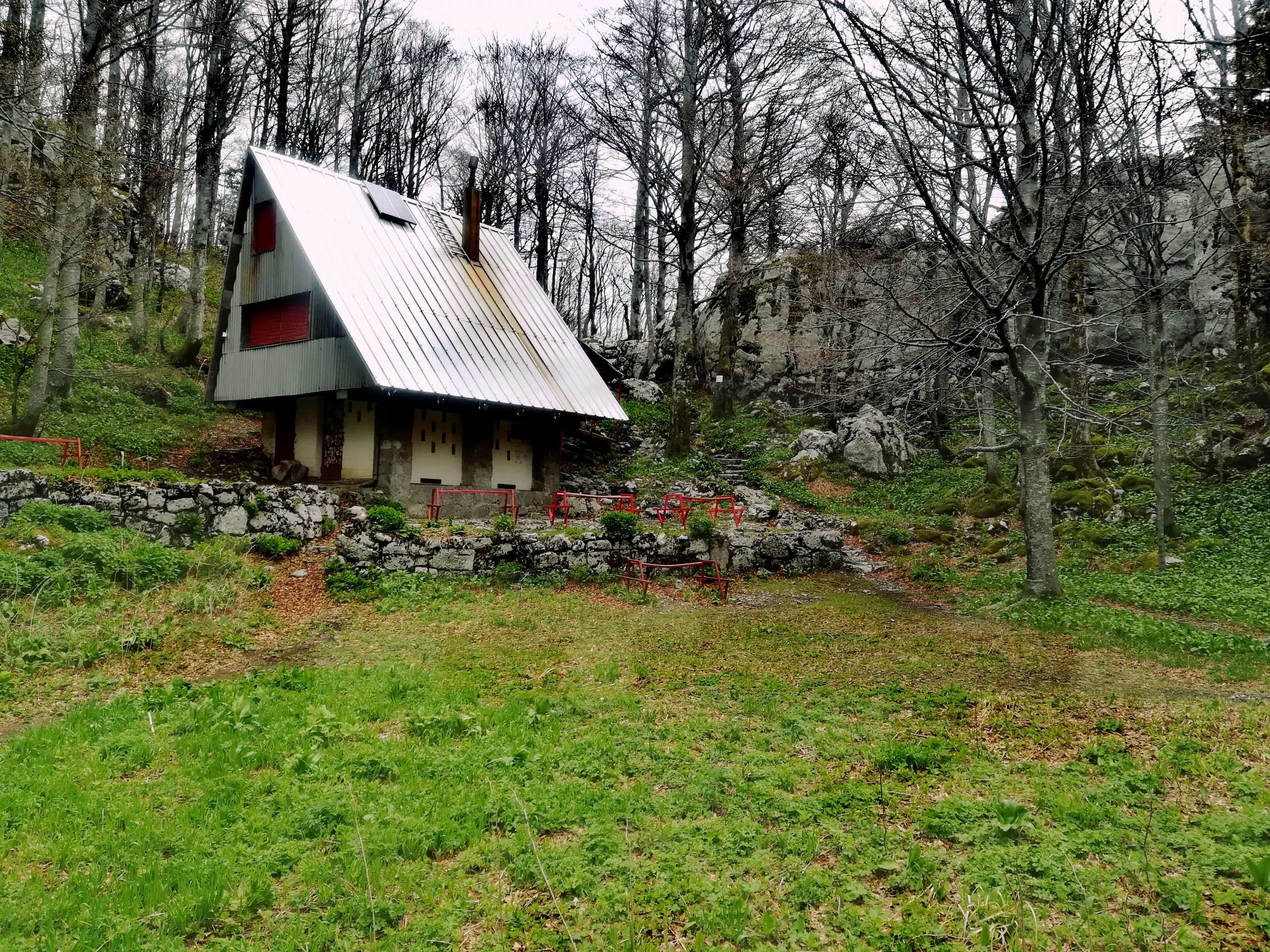 Mountain lodge at White rocks reservation near Ogulin, Croatia