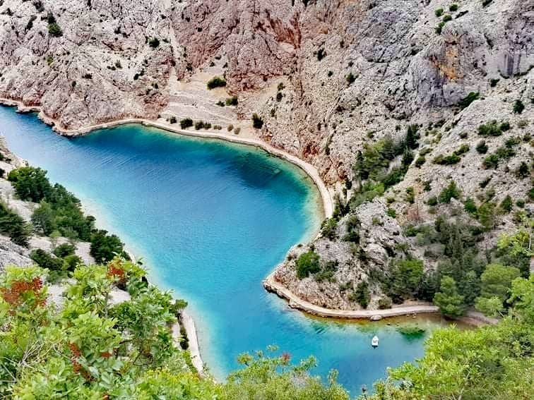 Zavratnica cove in Velebit nature park on the Adriatic, Croatia