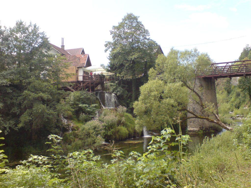 Rastoke village with famous waterfalls and mills near Slunj, Croatia.
