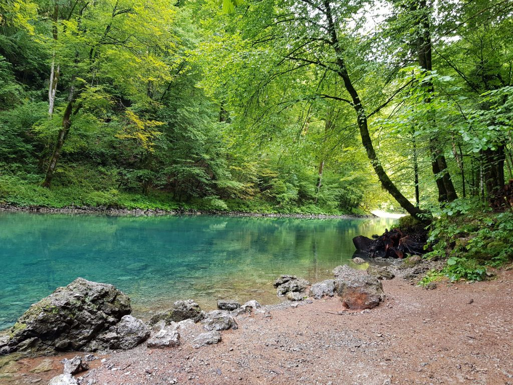 Lake in Croatia. This is the source of river Kupa.