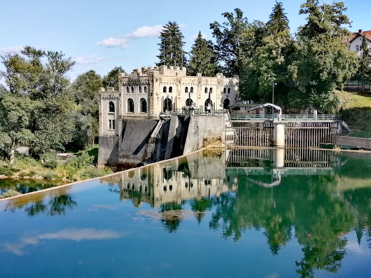 Hydroelectric plant in Ozalj, Croatia