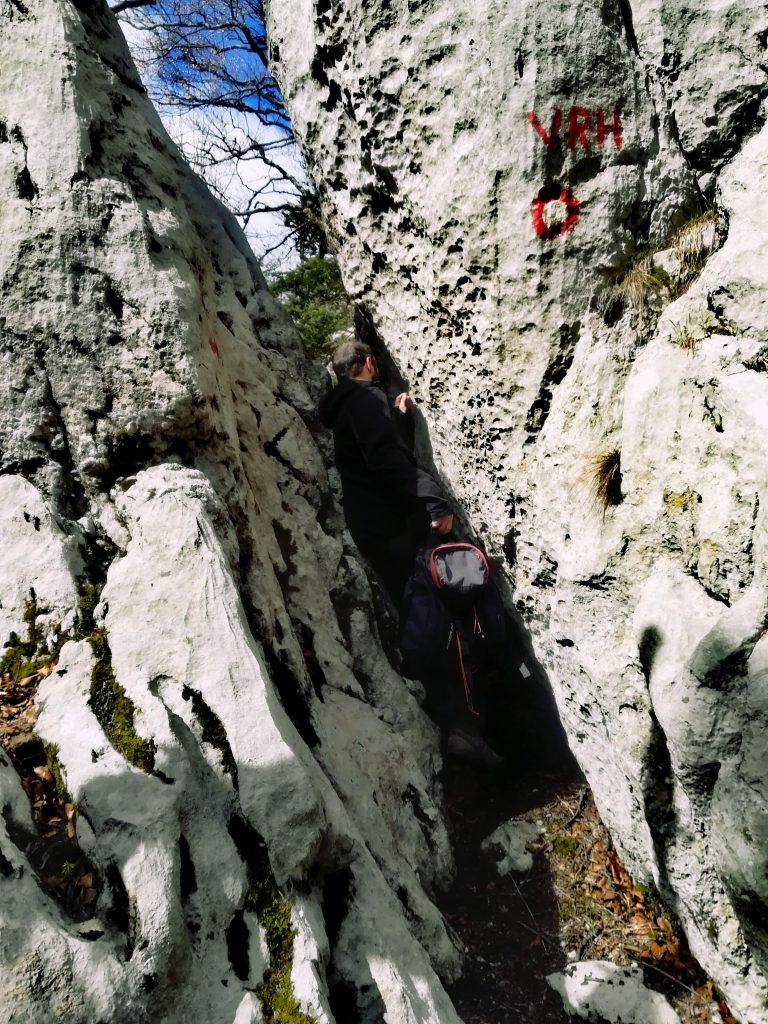 The white rocks, protected cluster of rock formations near Ogulin, Croatia