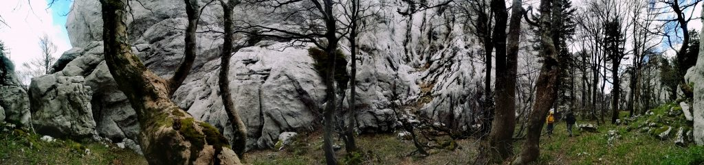 White rocks, protected cluster of rock formations near Ogulin, Croatia