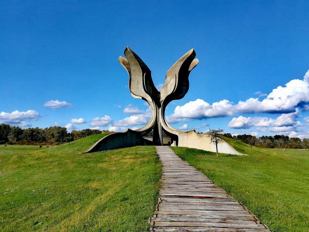 Second World War memorial in Jasenovac, Croatia.