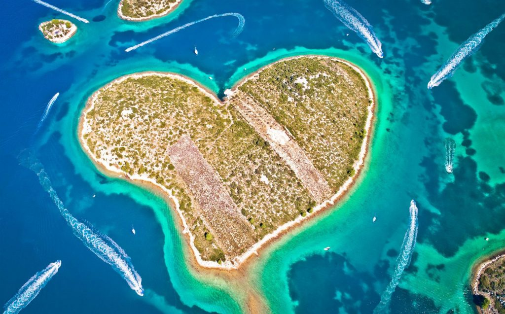 Heart shaped island, Croatia