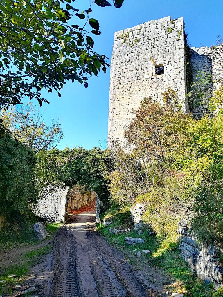 Ruins of Dvigrad castle in Istria, Croatia