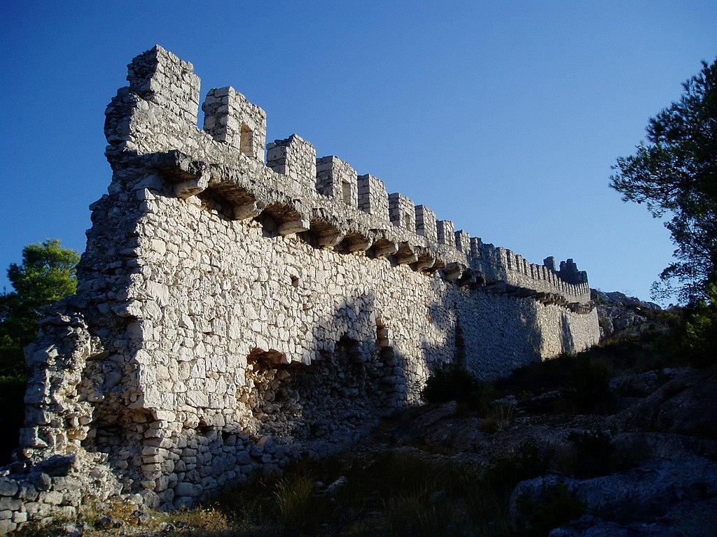 Oštrica wall near Šibenik, Croatia