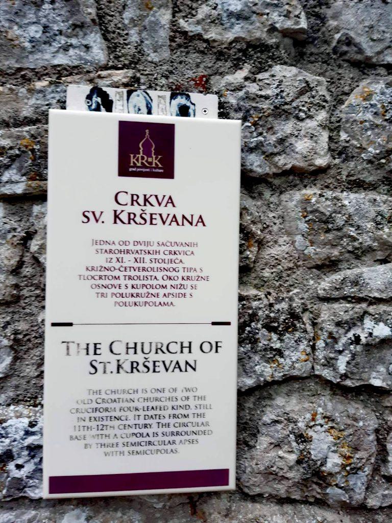 Church of st. krševan, krk, croatia